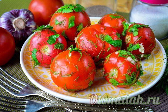 Быстрые помидоры в пакете
