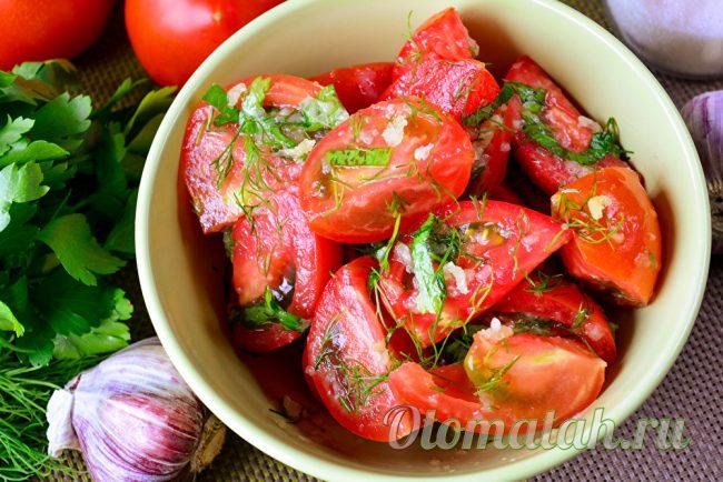 Корейская закуска из помидор