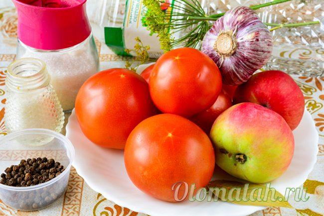 Ингредиенты для сладких помидор