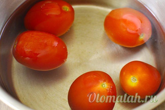 обдача помидор кипятком