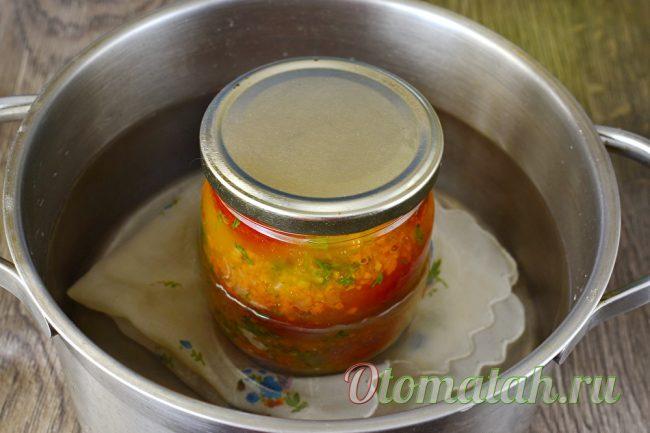 простерилизовать помидоры