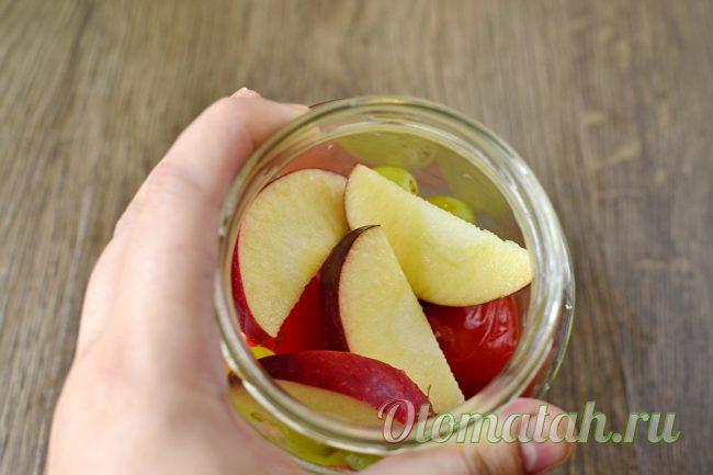 добавление яблок