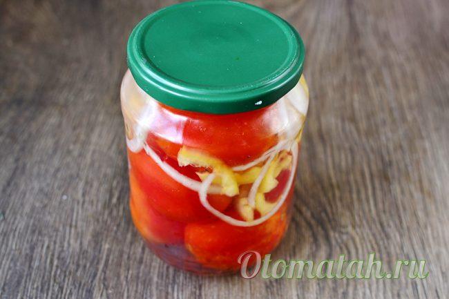 заготовка на зиму из помидор
