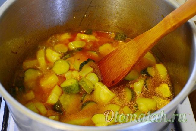проваривание овощей