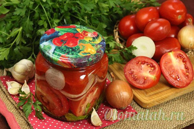 томаты в маринаде