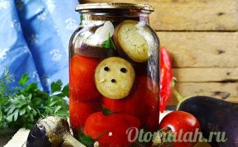 помидоры с баклажанами