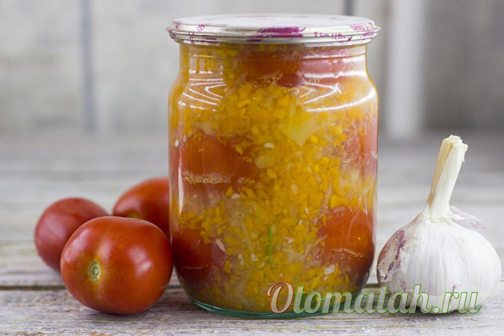 помидоры в овощной заливке
