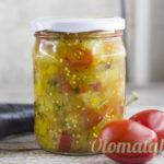 Вкусная заготовка из баклажанов помидоров и перца
