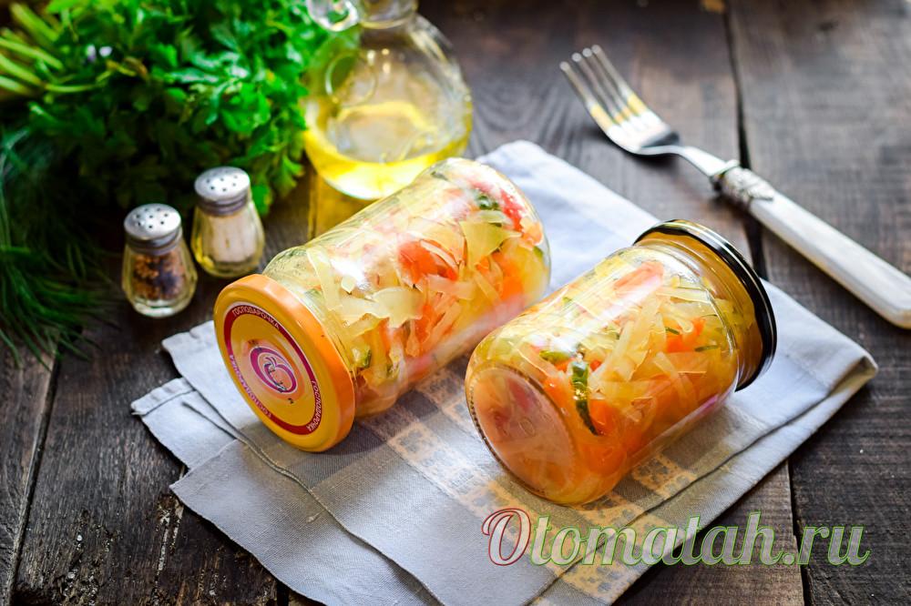 """Салат """"Кубанский"""" из овощей"""