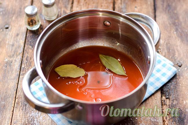 томат с приправами
