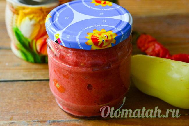 готовые помидоры в аджике