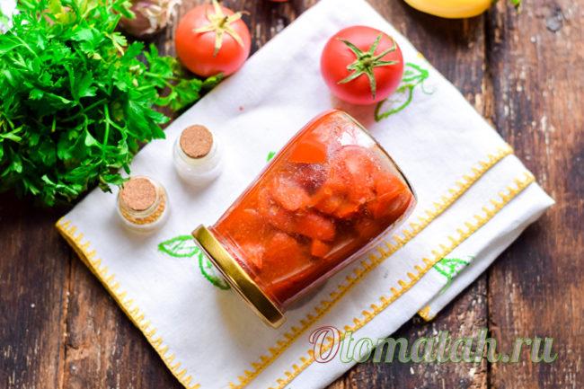 салат из перца и томатного сока