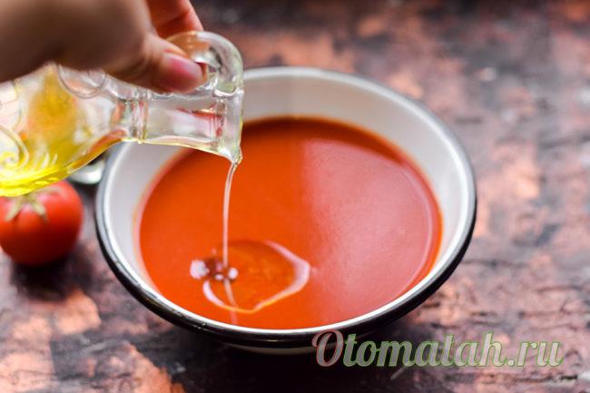 добавляем в сок масло