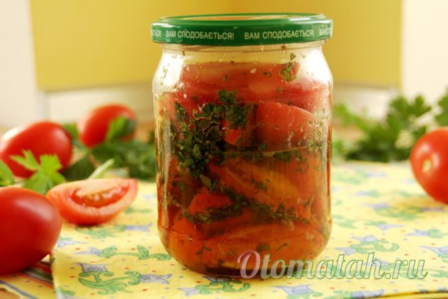 Вкусные помидоры на зиму по-корейски