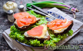 Бутерброды с творогом