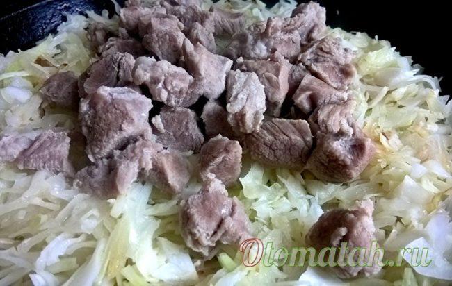 кладем мясо