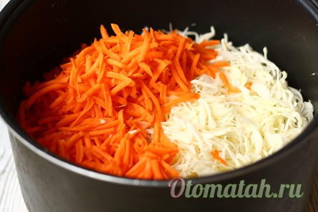 морковь и капуста вместе