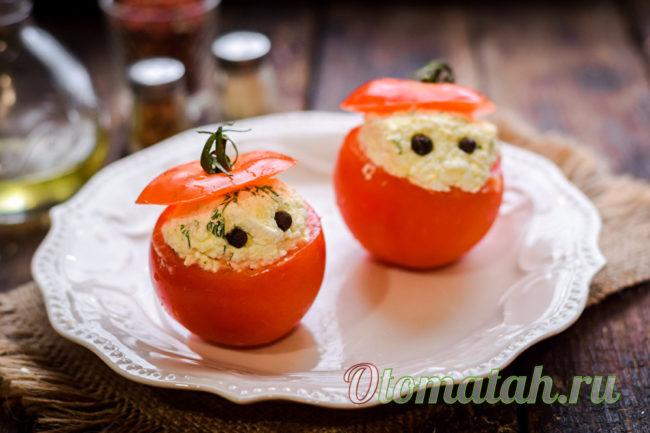 наполняем начинкой томаты