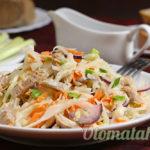 салат капуста и мясо