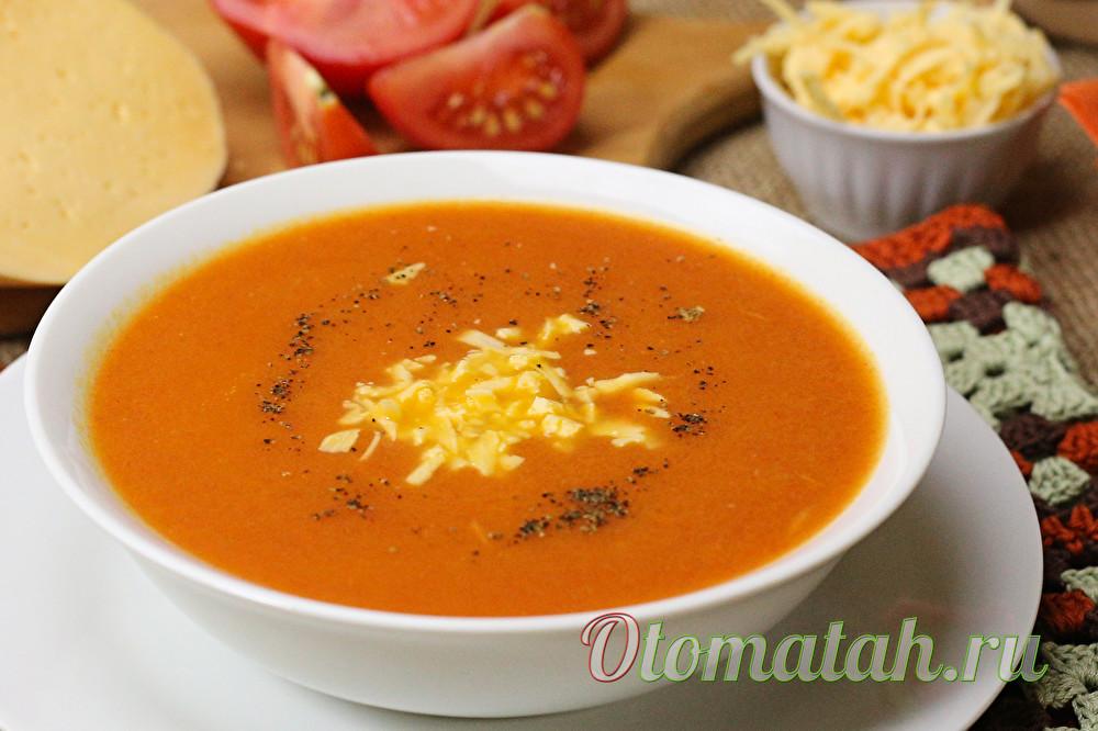 томатный суп пюре с сыром