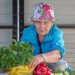 торговля овощами на улице