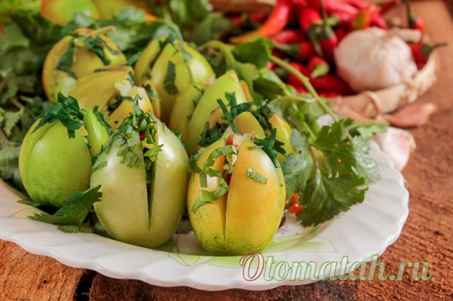 заготовка на зиму из зеленых помидоров
