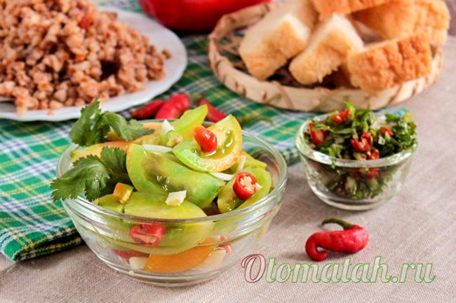 блюдо из зеленых помидоров