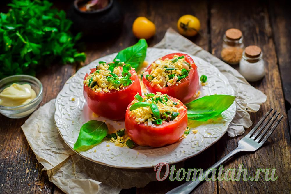 вкусные помидоры с тунцом