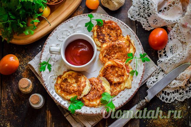 жареные помидоры с сыром