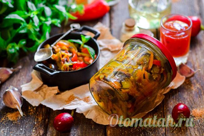 вкусная заготовка из баклажанов