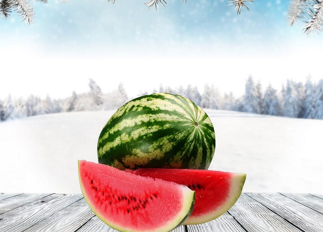 Свежий арбуз зимой