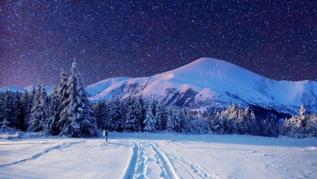 звёздное зимнее небо