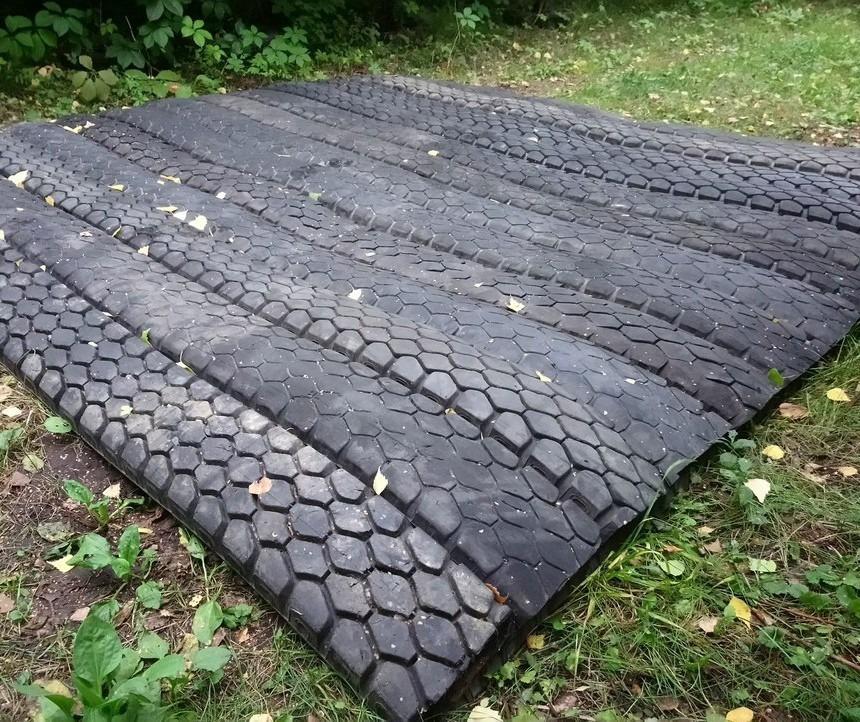 Садовые дорожки из старых покрышек: особенности изготовления